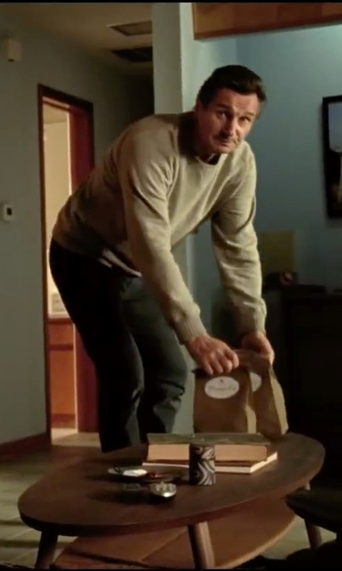 Liam Neeson with Dondup Denim Pants in Taken 3