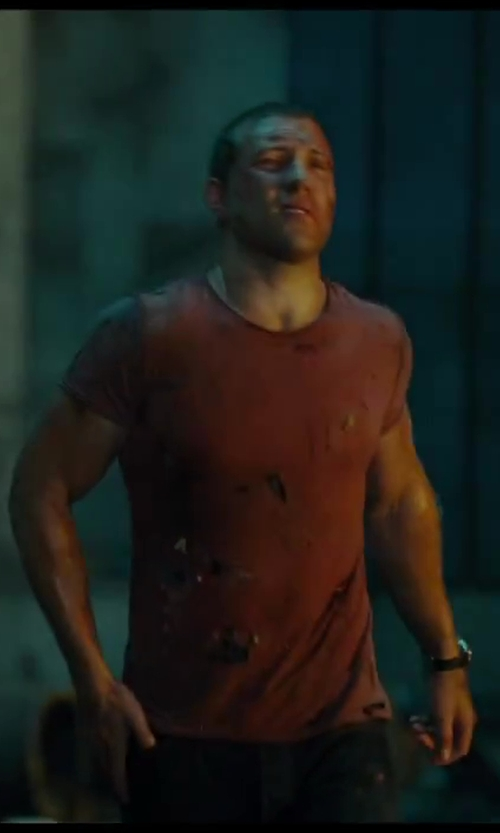 Jai Courtney with Hamilton Khaki X-Patrol Automatic Chronograph Black Dial Black Rubber Watch in A Good Day to Die Hard