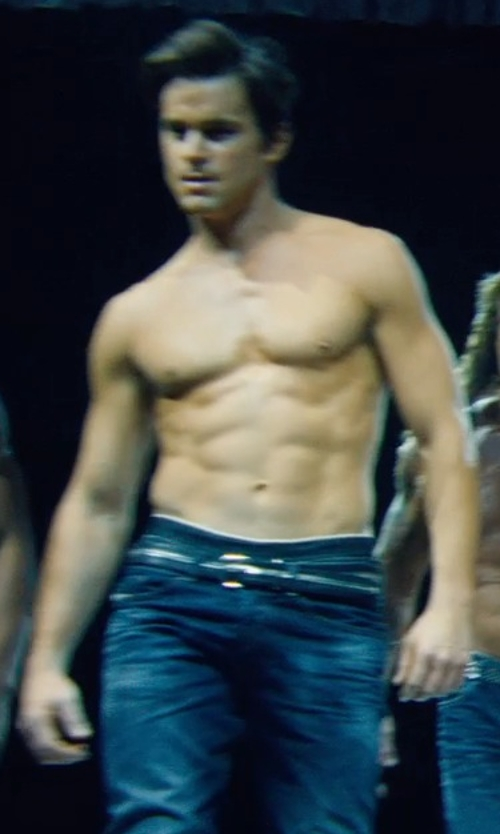 Matt Bomer with Ali Express Genuine Leather Men Punk Metal Belt in Magic Mike XXL
