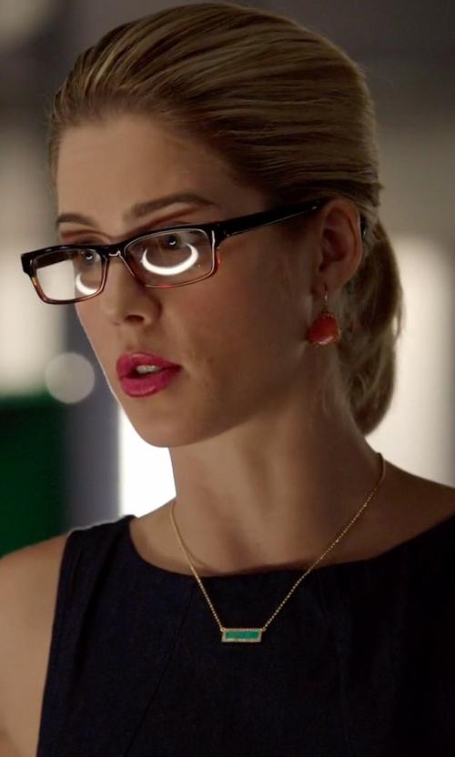 Emily Bett Rickards with Jastime 'Soho' Two Tone Eyeglasses in Arrow