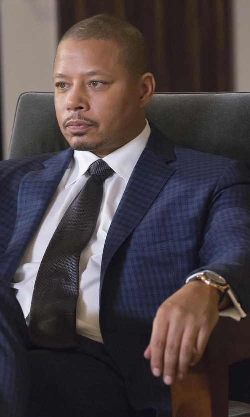 Terrence Howard  with Invicta Force Leather Strap Watch in Empire