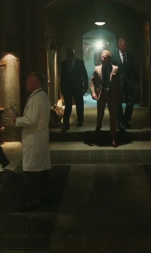 Unknown Actor with Landau Men's Full-Length Lab Coat in Iron Man 3