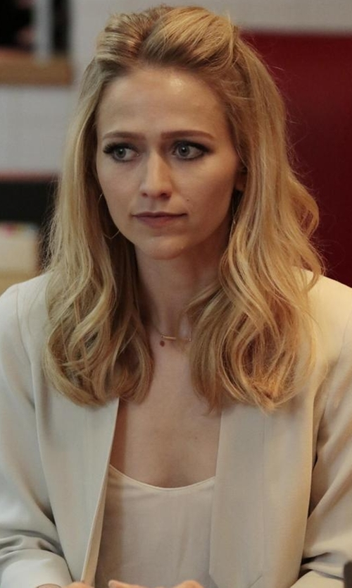 Johanna Braddy with Toby Heart Ginger X Love Indie Banks Tailored Jacket in Quantico