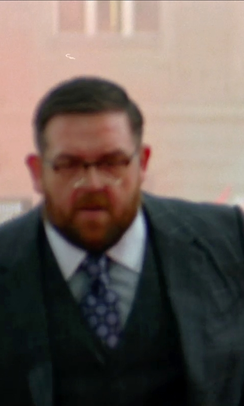 Nick Frost  with David Donahue Regular Fit Solid Dress Shirt in Unfinished Business