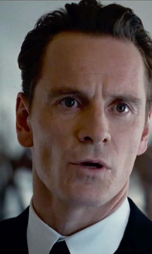 Michael Fassbender with Charvet French-Cuff Dress Shirt in Steve Jobs