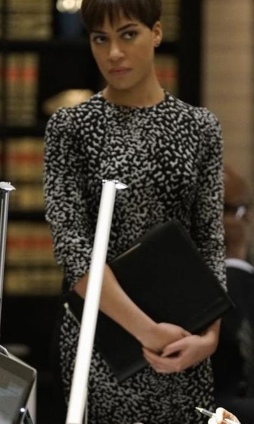 Cush Jumbo with Ganni Rosemont Dress in The Good Fight