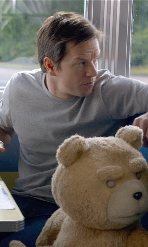 Mark Wahlberg with James Perse 'Classic' Crewneck T-Shirt in Ted 2
