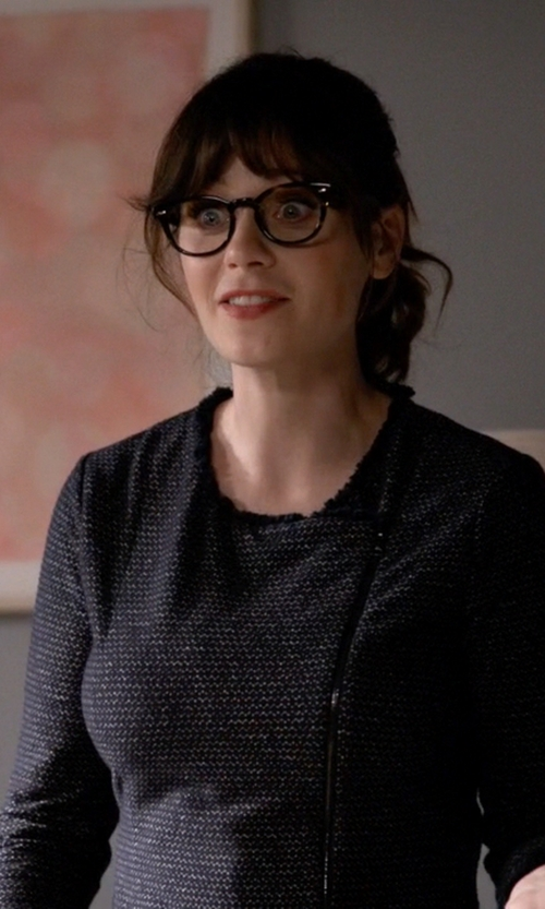 Zooey Deschanel with Talbots Fancy Tweed Dress in New Girl