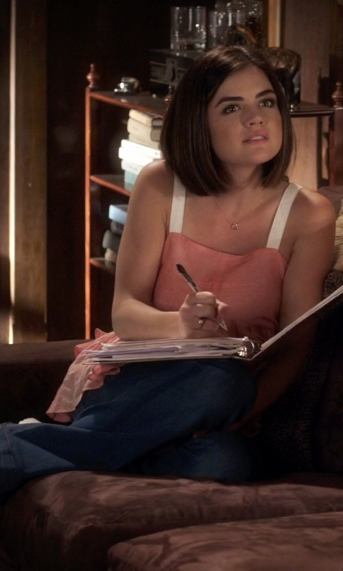 Lucy Hale with Stefano Chunky Sandals in Pretty Little Liars