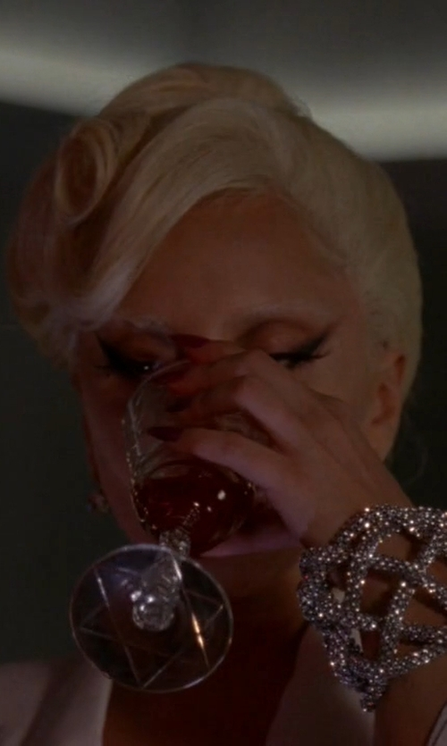 Lady Gaga with Michael Schmidt Metal Mesh Divinity Bracelet in American Horror Story