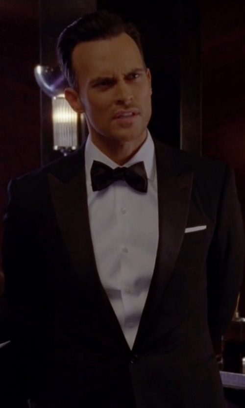 Cheyenne Jackson with Boss Hugo Boss Caiden/Glam Virgin Wool Tuxedo Suit in American Horror Story