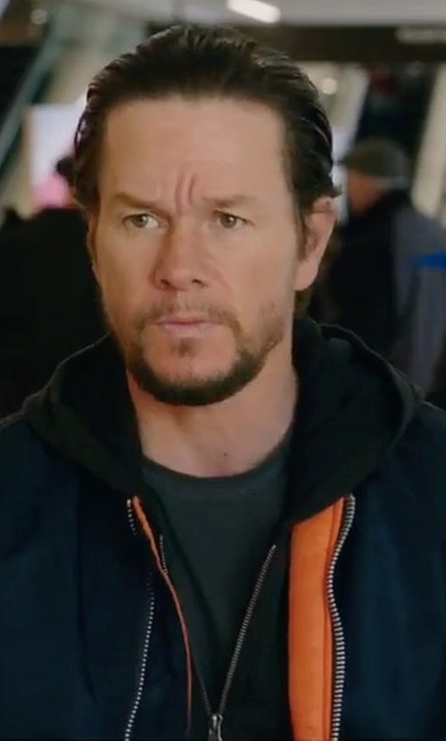 Mark Wahlberg with Asics Platinum Classic Zip Up Hoodie in Daddy's Home 2