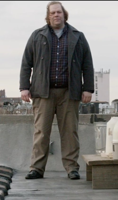 Ólafur Darri Ólafsson with Apolis Civilian Chinos in A Walk Among The Tombstones