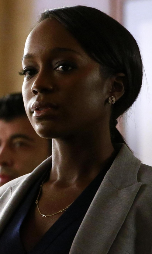 Aja Naomi King with Lana Disc-Station Layering Necklace in How To Get Away With Murder