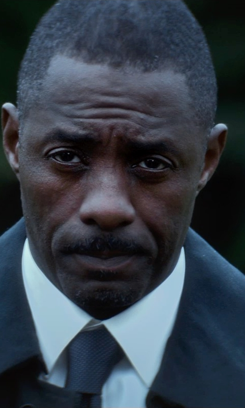 Idris Elba with Theory Dover Tuxedo Shirt in The Gunman