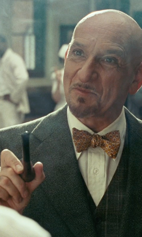 Ben Kingsley with Dr Grabow Savoy Smooth Tobacco Pipe in Shutter Island