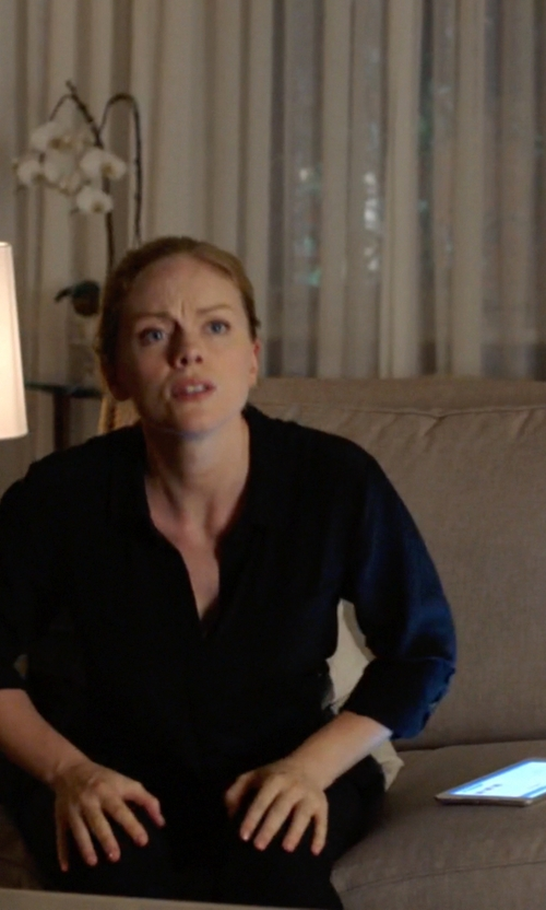 Christina Cole with Apple iPad Mini Tablet in Suits