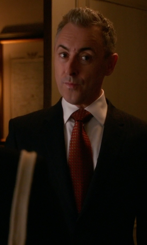Alan Cumming with Brioni Plaid Silk & Wool Tie in The Good Wife