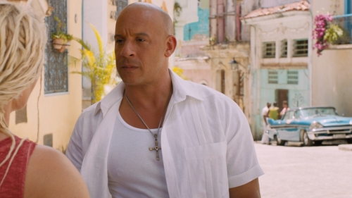 Vin Diesel with Polo Ralph Lauren Classic Ribbed Tank in The Fate of the Furious