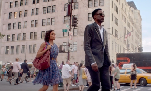 Chris Rock with Bergdorf Goodman Building - 754 5th Avenue New York City, New York in Top Five
