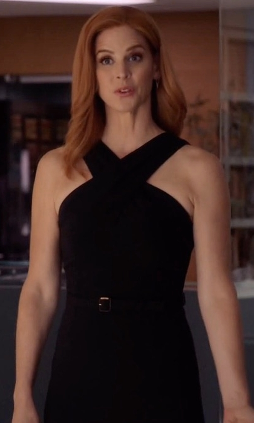 Sarah Rafferty with Gucci Belted Waist Dress in Suits