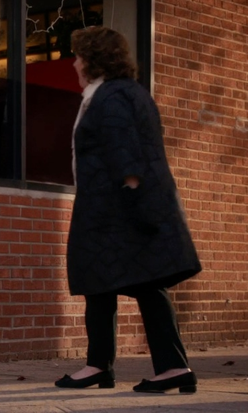 Margo Martindale with Stuart Weitzman Avatass Suede Tassel Loafer Shoes in The Good Wife