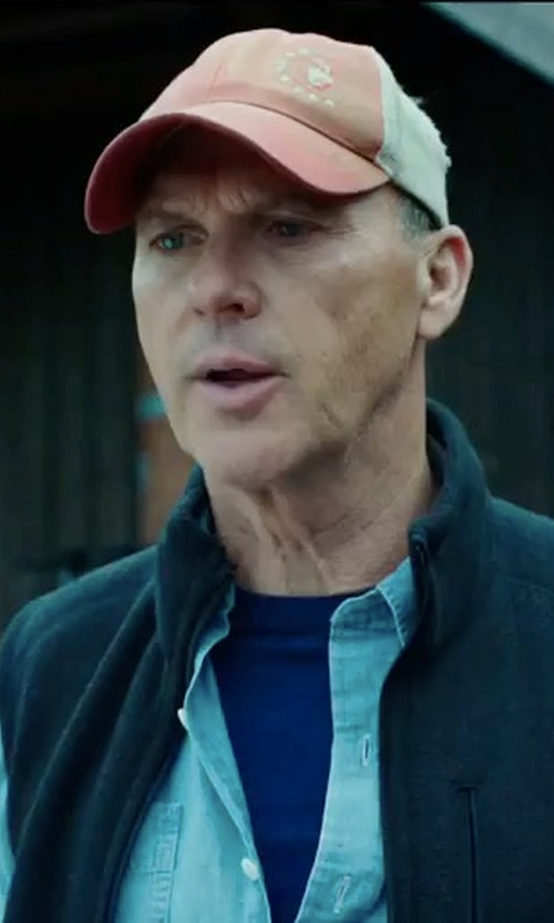 Michael Keaton with Vineyard Vines Lighthouse Logo Patch Trucker Hat in American Assassin