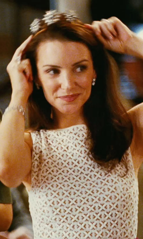 Kristin Davis with Cathy Waterman Double-Hexagon Stud Earrings in Sex and the City