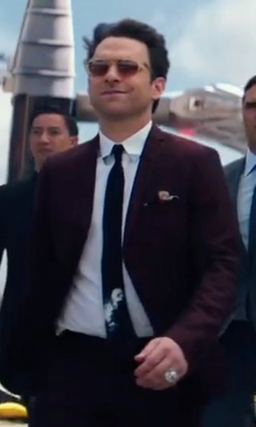 Charlie Day with Nordstrom Men's Shop Solid Satin Silk Tie in Pacific Rim: Uprising