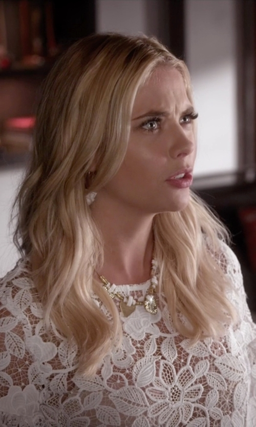 Ashley Benson with Kate Spade New York  Clink Of Ice Collar Necklace in Pretty Little Liars