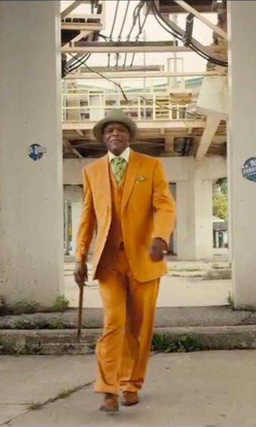 Samuel L. Jackson with Calvin Klein Brodie Plain Toe Oxford Shoes in Chi-Raq