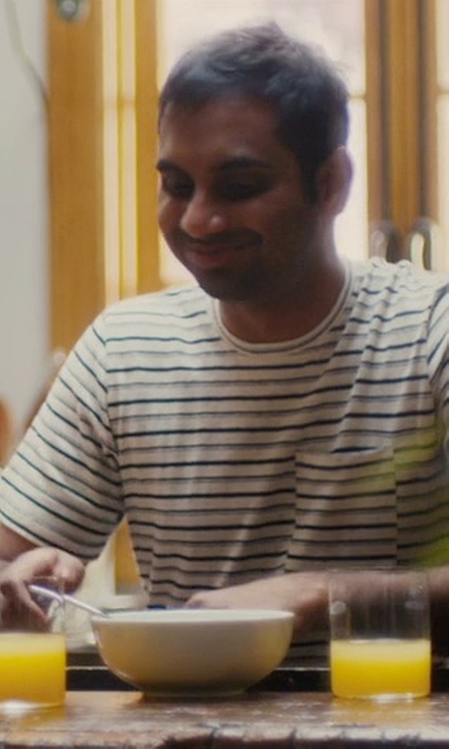 Aziz Ansari with Tavik Tracer Short Sleeve Pocket T-Shirt in Master of None