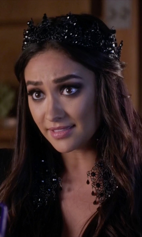 Shay Mitchell with Marianna Harutunian Custom Made Crown (Emily Fields) in Pretty Little Liars