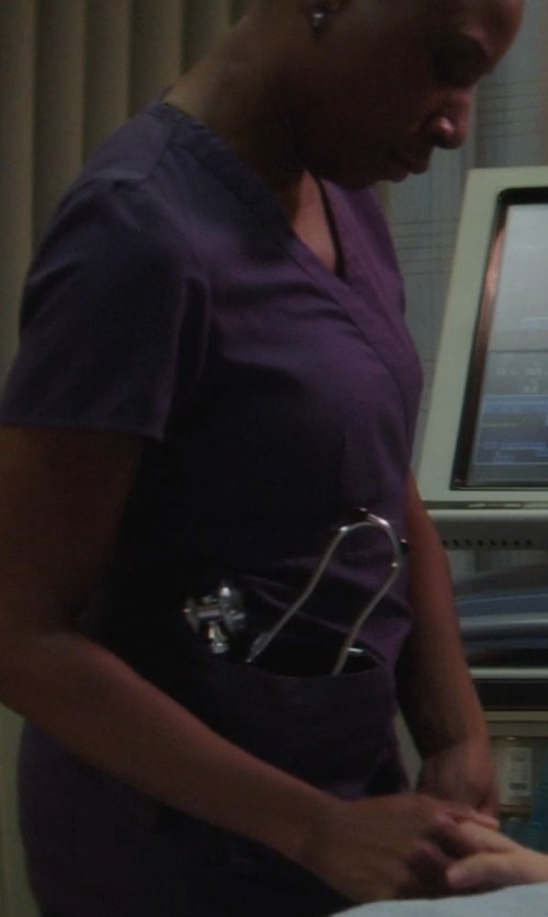 Aisha Hinds with Omron Sprague Rappaport Stethoscope in If I Stay