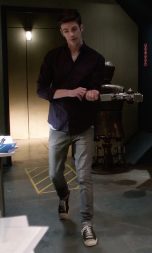 Grant Gustin with Converse Jack Purcell Signature Sneakers in The Flash