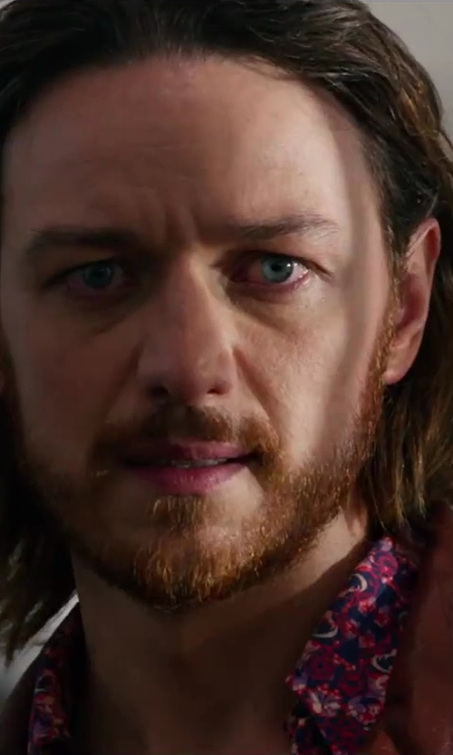 James McAvoy with GLANSHIRT floral print shirt in X-Men: Days of Future Past