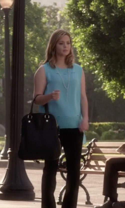 Sasha Pieterse with Ellington Mia Folding Tote Bag in Pretty Little Liars