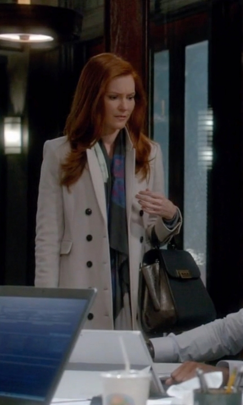 Darby Stanchfield with Zac Zac Posen Colorblock Leather Tote Bag in Scandal