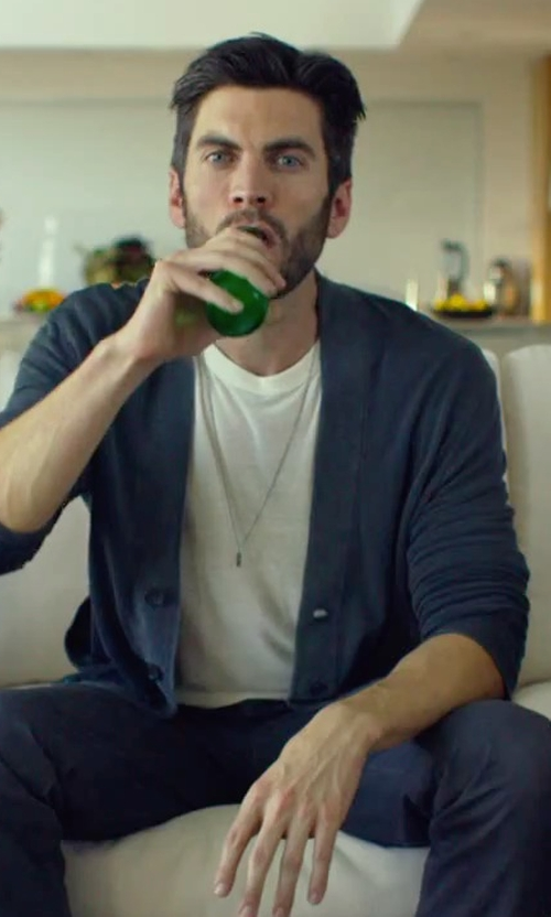 Wes Bentley with Majestic Filatures Crew Neck T-Shirt in We Are Your Friends