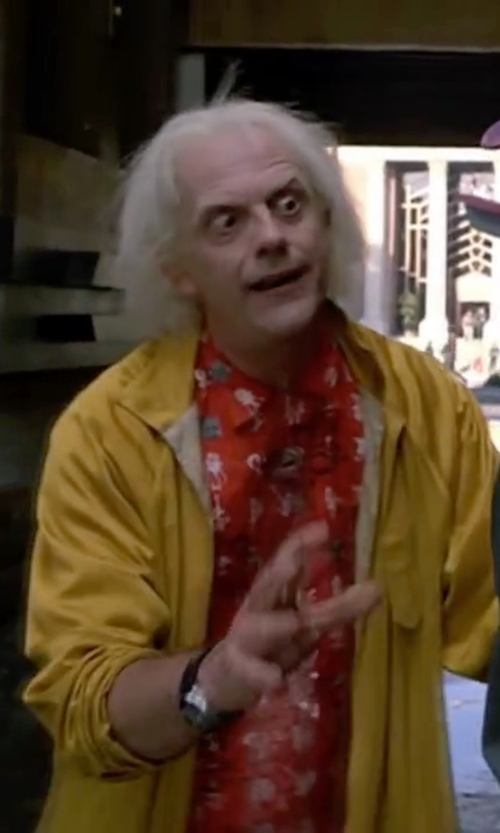 Christopher Lloyd with Seiko A826 Training Timer Watch in Back To The Future Part II