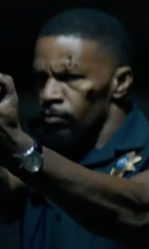 Jamie Foxx with Movado Heritage Tongue Buckle Strap Watch in Sleepless