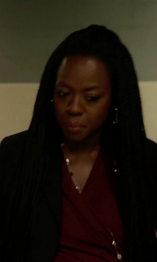 Viola Davis with Theory Brescia Long-Sleeve Blazer in How To Get Away With Murder