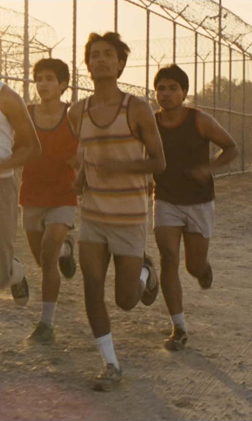 Michael Aguero with French Connection Men's Cedar Creek Stripe Tank Top in McFarland, USA