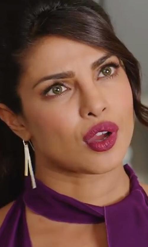Priyanka Chopra with Stephanie Kantis Versatile Stick Drop Earrings in Baywatch