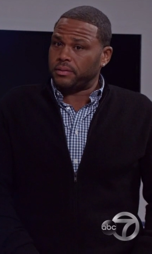 Anthony Anderson with YMC Double Zip Cardigan in Black-ish