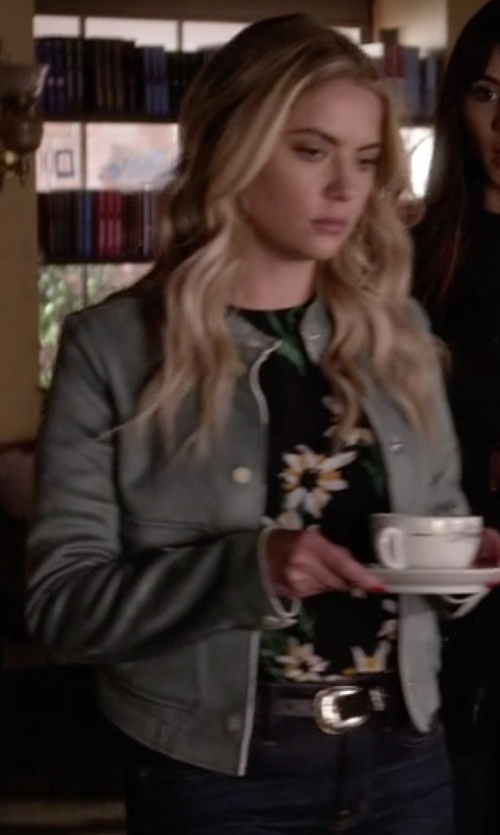 Ashley Benson with Zara Suede Effect Jacket in Pretty Little Liars