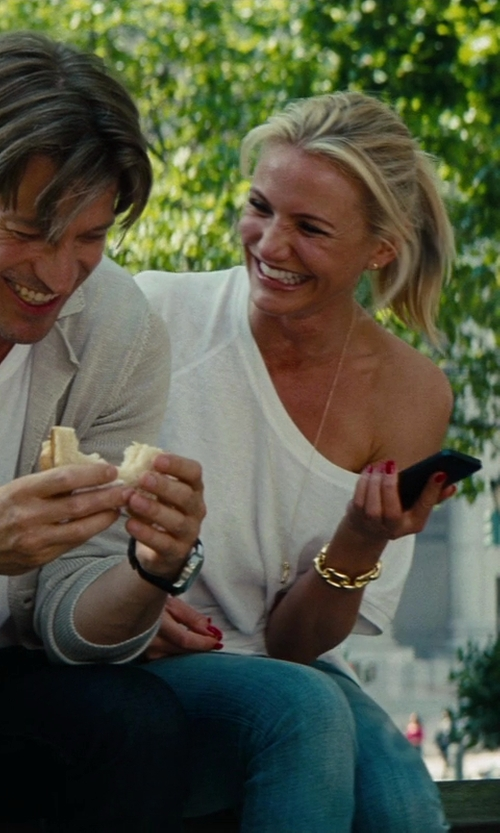 Cameron Diaz with Truly Madly Deeply Off-The-Shoulder Tee in The Other Woman