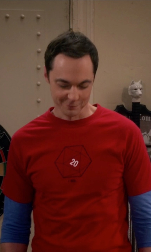 Jim Parsons with Alternative Warm Up Heavyweight Eco-Mock Twist T-Shirt in The Big Bang Theory