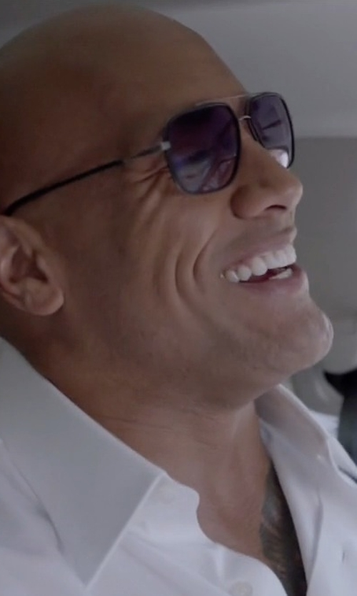 Dwayne Johnson with Dita Avocet-Two in Matte Black and Antique Silver Sunglasses in Ballers