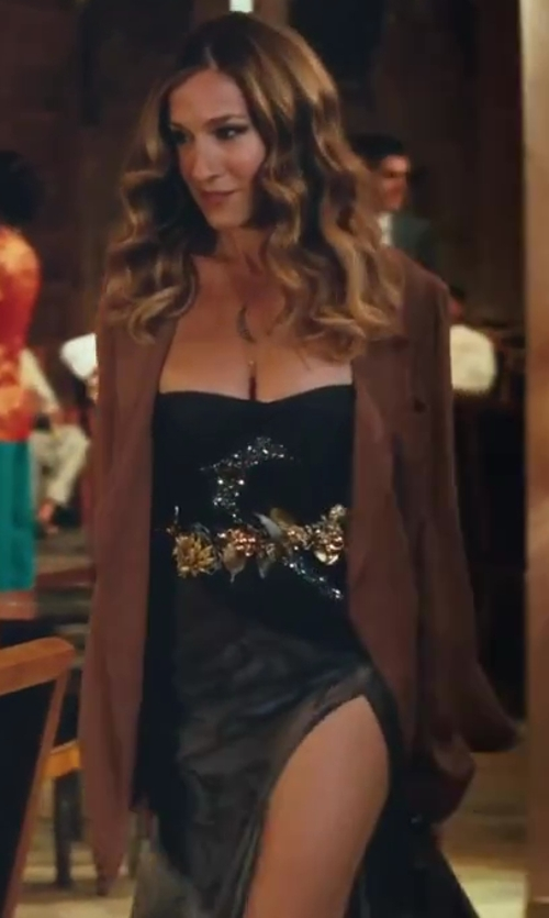 Sarah Jessica Parker with Pucci Floral Dress in Sex and the City 2